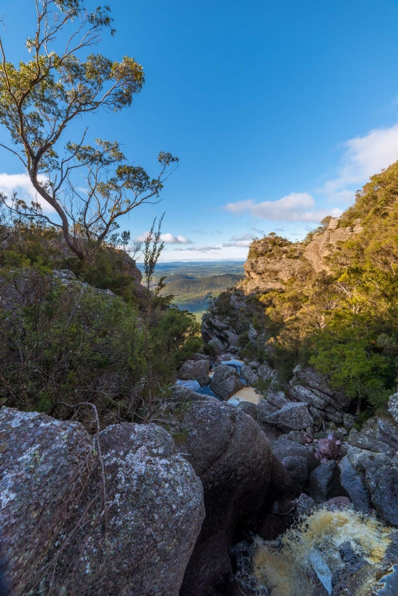 Top Tier Middle Tier Pano. Isaac Crebert Minnow Falls Tasmania
