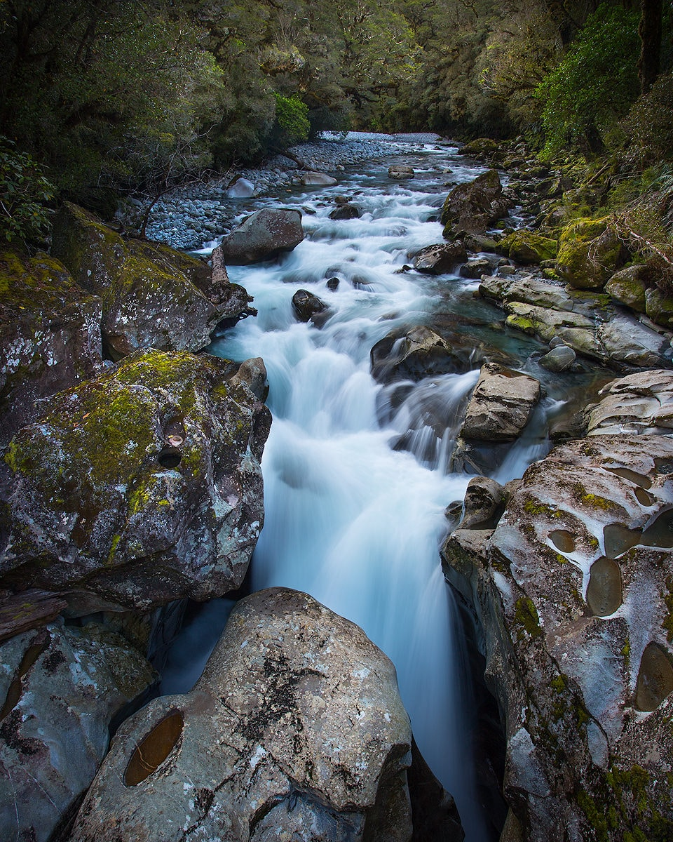 By Land And By Sea // Te Anau to Milford Sound (NZ) Liam Hardy, the chasm, river, rocks,,long exposure, whitewater