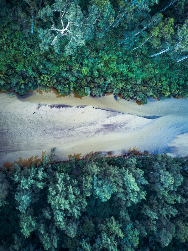 Kate Miles, Colo River, drone, sand, perspective, NSW