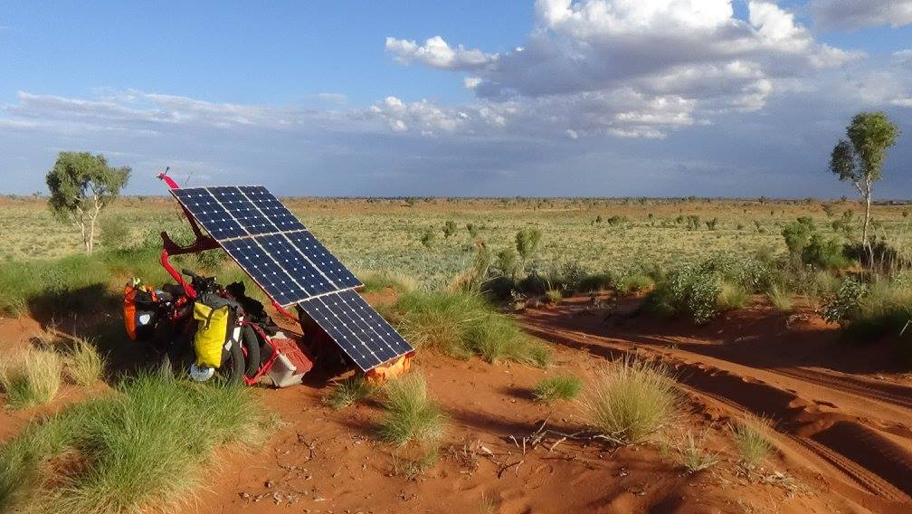Sam Mitchell, Canning Stock Route, Outback, solar panels, sun