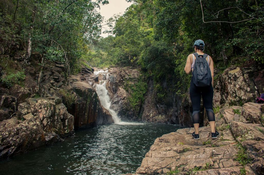 Straight Outta The Seventies // Finch Hatton Gorge (QLD), Jacquie Tapsall, waterfall, hiker, swimming hole