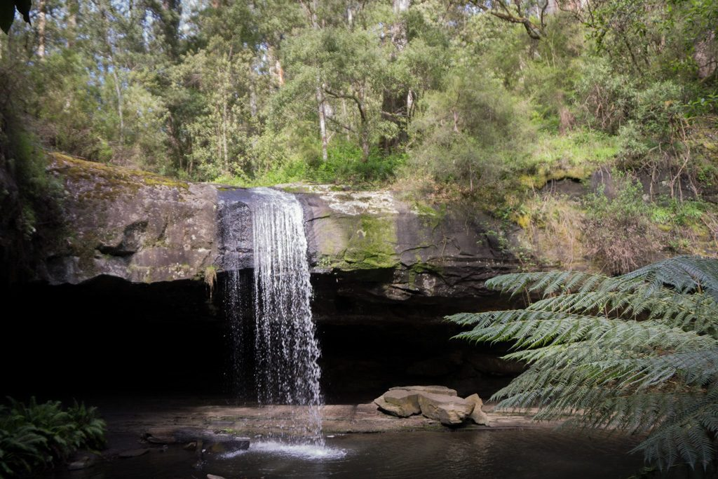 Wet Feet And Waterfalls // Cumberland River Trail (VIC), Isobel Campbell, Lower Kalimna Falls, pool, ledge, overhang
