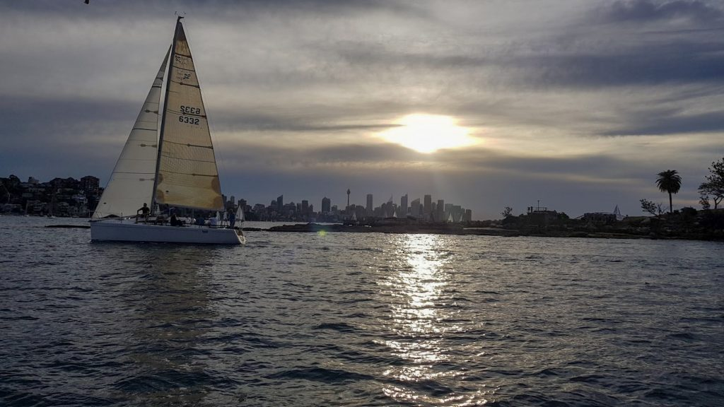 5 Cheeky Midweek Adventures In Sydney (NSW), Brooke Nolan, Sailing on Sydney Harbour, boat, sunset, water