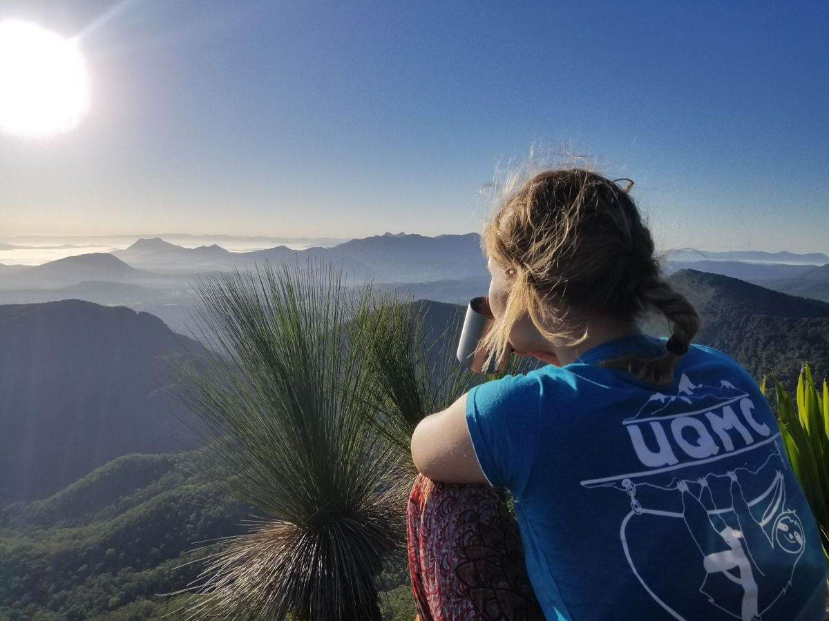 saphira schroers, explorer of the month, hiking, featured explorer, sunrise, coffee, or hot chocolate? view