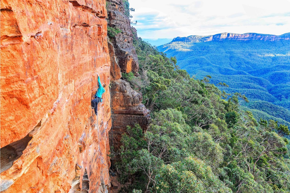 michael evans, rock climbing, blue mountains, multi, types of rock climbing