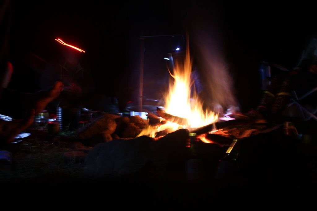 A Climbing Mecca Near Brisbane // Brooyar State Forest (QLD), Saphira Schroers, fire, campfire, flames, dark, night