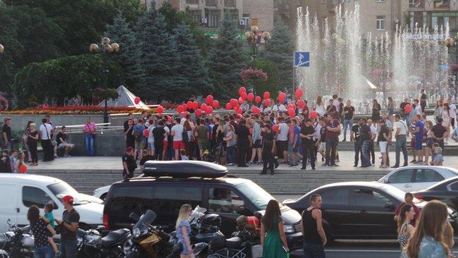 Ми втомились від лайна, - на Майдане прошла акция против регистрации Клюева и Шария кандидатами в нардепы 10