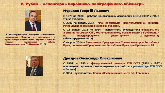 Рубан - российский политический проект: презентация СБУ о деятельности руководителя Офицерского корпуса 04