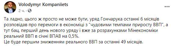 ВВП України в січні скоротився на 0,5% вперше з 2016 року 01