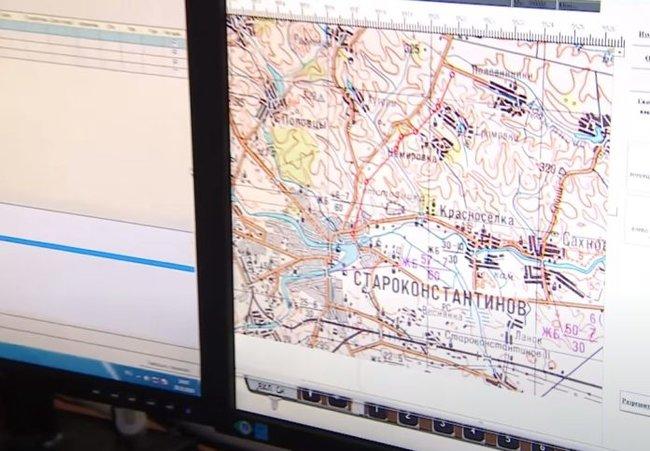Російські ракетники тренуються за картами Хмельницької області 02
