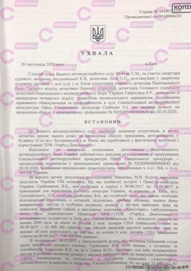 Гройсман отримував 75 млн грн хабаря від Микитася, - журналіст 01