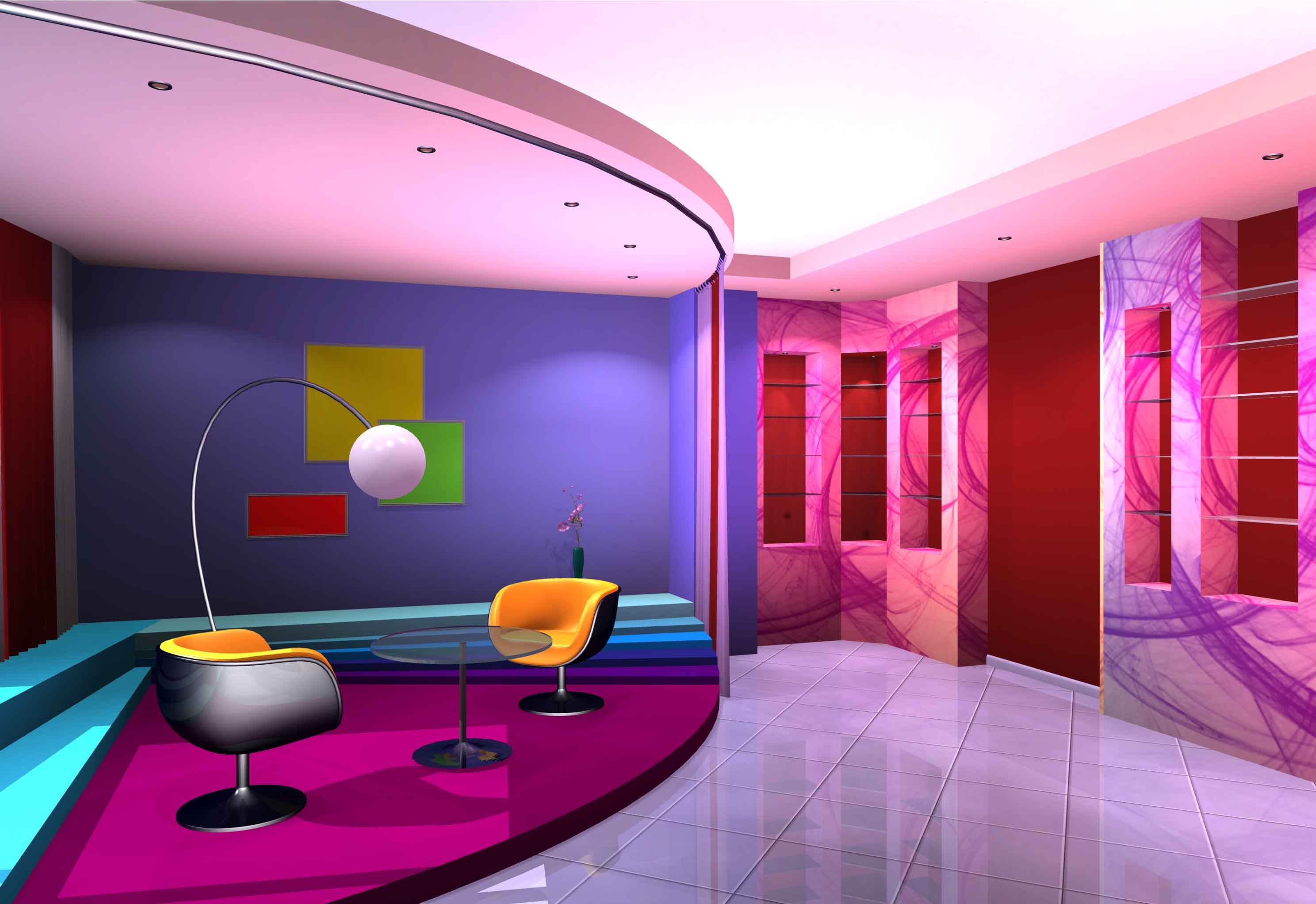 Interior house decoration with purple Architectural Home Design by Art Devise Category Salons and