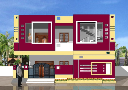Excellent South Indian Style House Best Home S In India Wallpapers With Exterior Painting Ideas