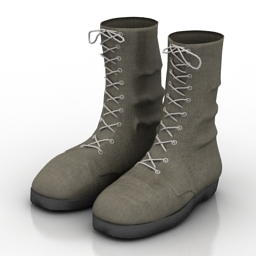 Clothes 3D Models Boots N070712 3D Model Gsm3ds For Interior 3d Visualization