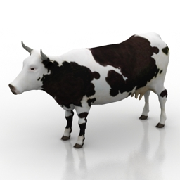 Animals 3D Models Cow N160814 3D Model Gsm3dsmax For Exterior 3d Visualization