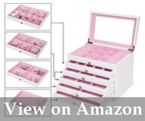 white and pink jewelry case