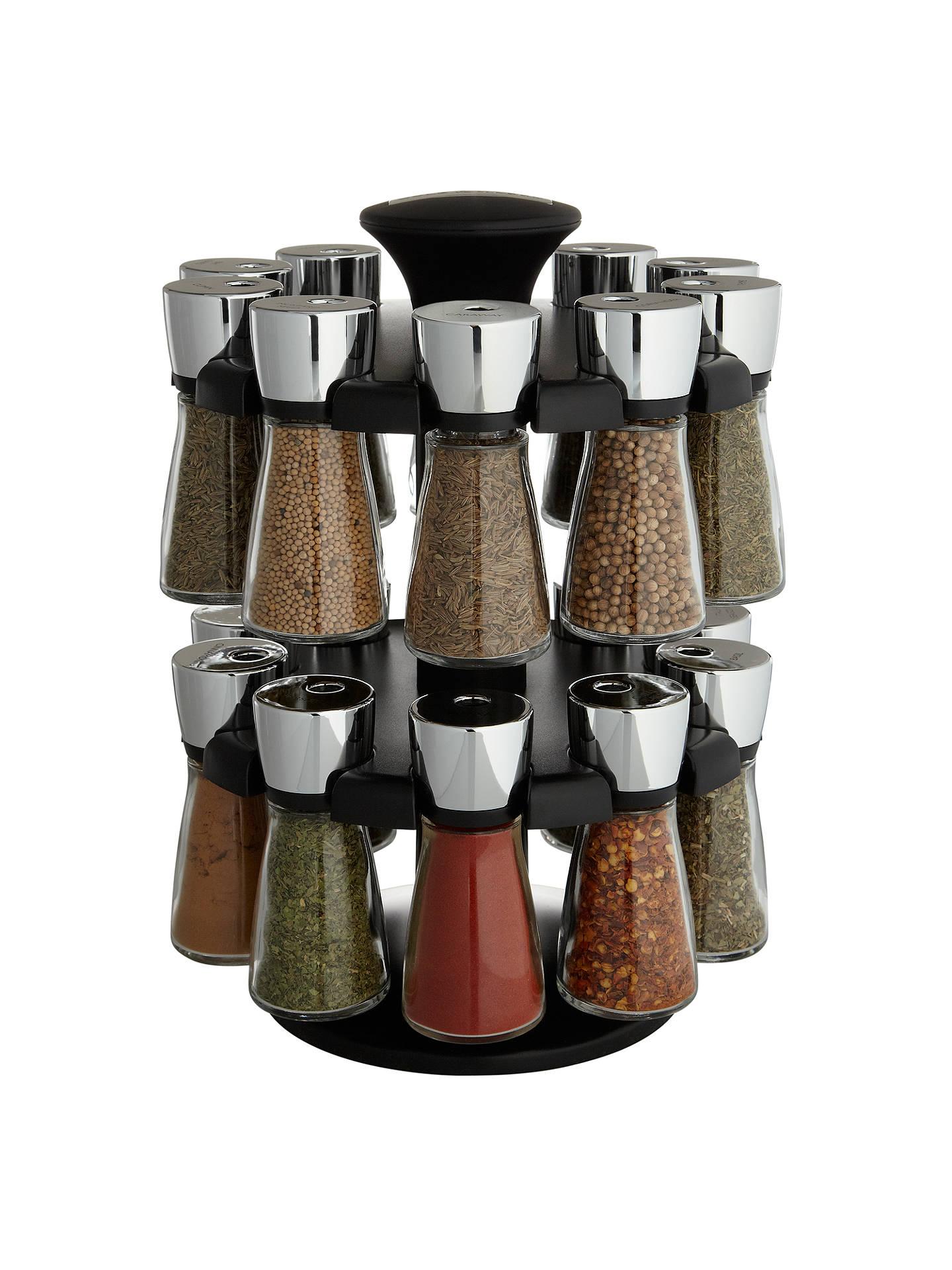 cole mason hudson herb spice rack 20 jar filled carousel