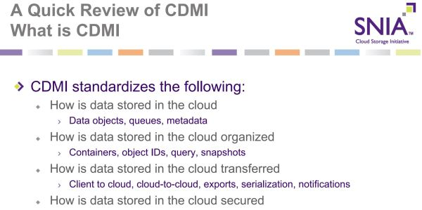 CDMI Quick Review