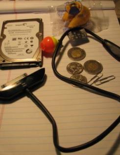 Seagate Momentus XT and goflex cable, image via StorageIO.com
