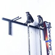 Ski Rack Snowboard Rack Wall Mount Pole Rack for Garage Storage, Black
