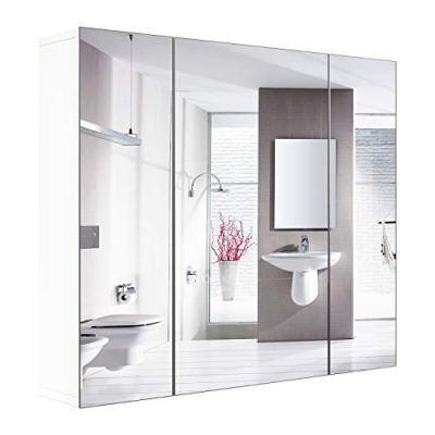 """HOMFA Bathroom Wall Mirror Cabinet 27.6"""""""
