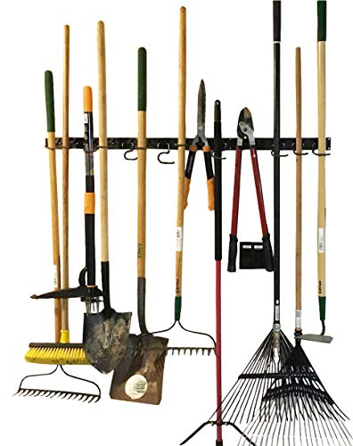 FITOOL Adjustable Storage System 48 Inch, Wall Holders for Tools, Wall Mount Tool Organizer, Garage Organizer, Garden Tool Organizer, Garage Storage