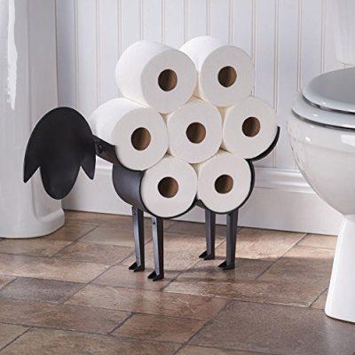 ART & ARTIFACT Sheep Toilet Paper Holder - Free-Standing Bathroom Tissue Storage