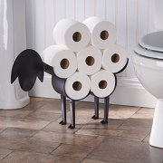 ART & ARTIFACT Sheep Toilet Paper Holder - Free-Standing Bathroom Tissue Storage