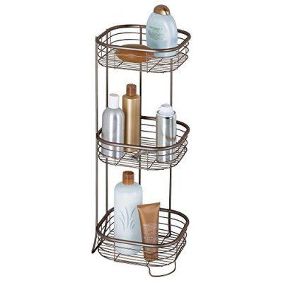 InterDesign Forma Metal Wire Corner Standing Shower Caddy