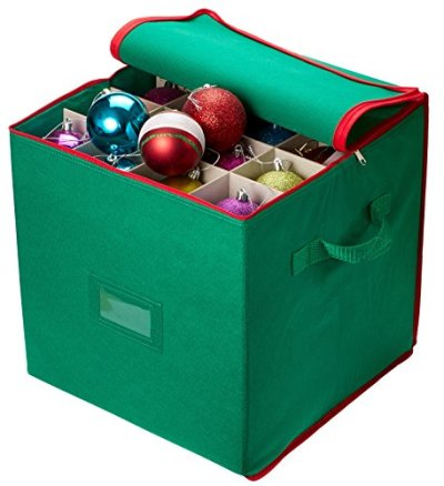 Holiday Ornaments, Adjustable Dividers, Zippered Closure
