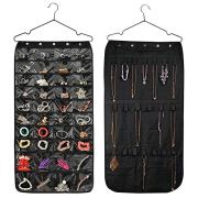 Hanging Jewelry Organizer Double Sided 40 Pockets