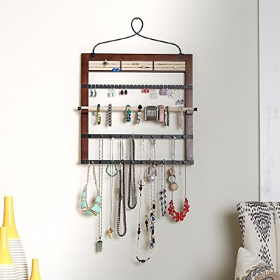 Hives and Honey Jewelry Organizer with Bracelet Holder Rod
