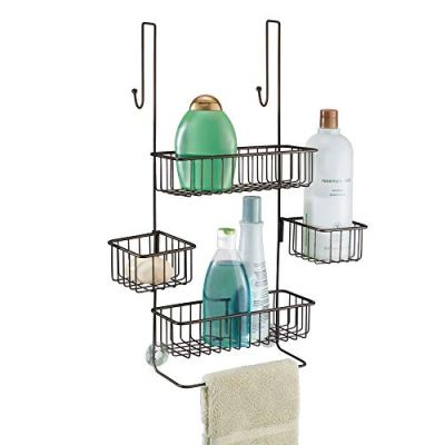 Bathroom Over the Door Shower Caddy with Swivel Storage Baskets