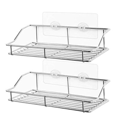 Adhesive Bathroom Shelf Wall Mounted, No Drilling Strong Shower
