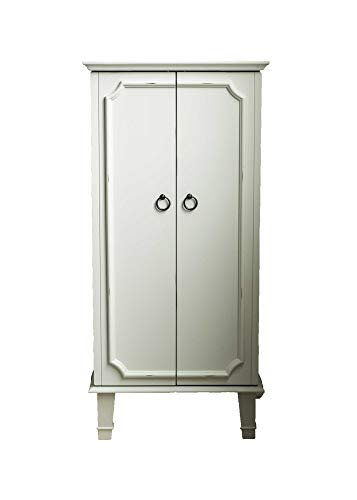 Hives and Honey 6006-945 Charlize Fully Locking Jewelry Armoire White