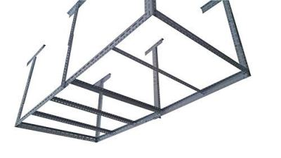 "bigbear iron 48""x96"" Heavy Duty Garage Storage Ceiling Rack Length"
