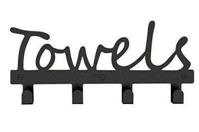 Fasmov Wall-Mounted 4 Hook Wall Towel Rack Originality Clothing Hooks