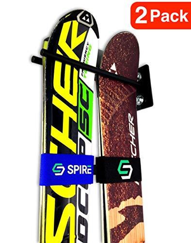 Couple Ski Wall Storage Rack | Steel Home and Garage Skis Mount (2)