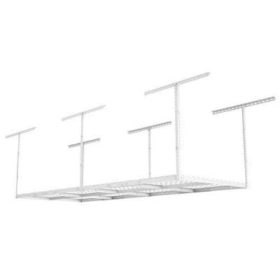 FLEXIMOUNTS 3x8 Overhead Garage Storage Rack Adjustable Ceiling Storage