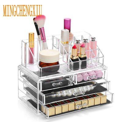 Choose Funny Acrylic Makeup Organizer Storage Box Nail Polish cosmetics Storage Container Beautician Cosmetic Cases Organizer