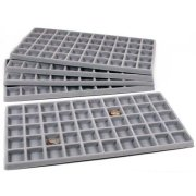 FindingKing 5 Gray 50 Slot Pendant Jewelry Showcase Display Tray Inserts
