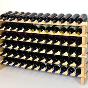 Modular Wine Rack Beachwood 48-144 Bottle Capacity 12 Bottles Across up to 12 Rows Newest Improved Model (72 Bottles - 6 Rows)