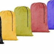 Large 30 X 40 Laundry Bag with Cord Assorted Colors and Patters (144)
