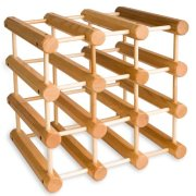 J.K. Adams Ash Wood 12-Bottle Wine Rack, Natural