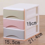 HIPSTEEN Macaron Color Drawers Four/Three Layers Draw-out Desk Storage Box Container Organizer - Color Random