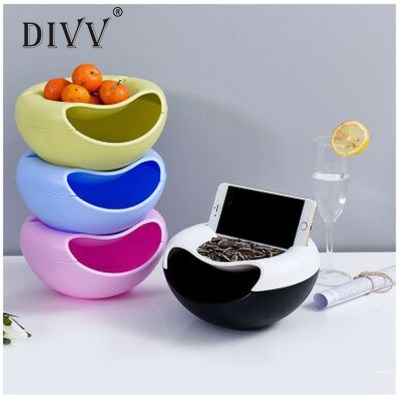 DIVV Shape Updated Bowl Perfect For Seeds Nuts And Dry Fruits Storage Box Evironment-friendly Bowl 1PC Food Grade Plastic