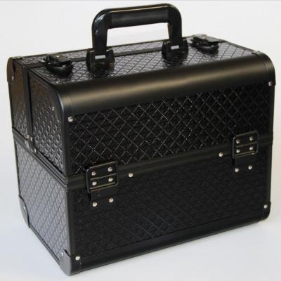 Good Quality Black Colour Makeup Storage,Makeup Organizer Storage Box,Portable Large Jewelry Box Make Up Suitcase Cosmetic Boxes