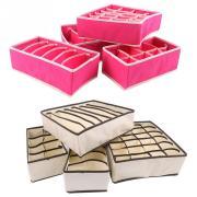 4pcs/Set Bra Underwear Sock Ties Drawer Divider Closet Organizer Storage Box Container Non-woven Fabric Home Essential