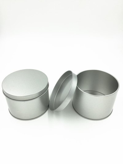Dia.10*7.5cm New Arrival silver round tea tin box candy storage box