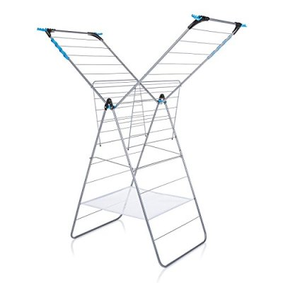 minky X-Tra Wing Drying Rack, 78', Silver